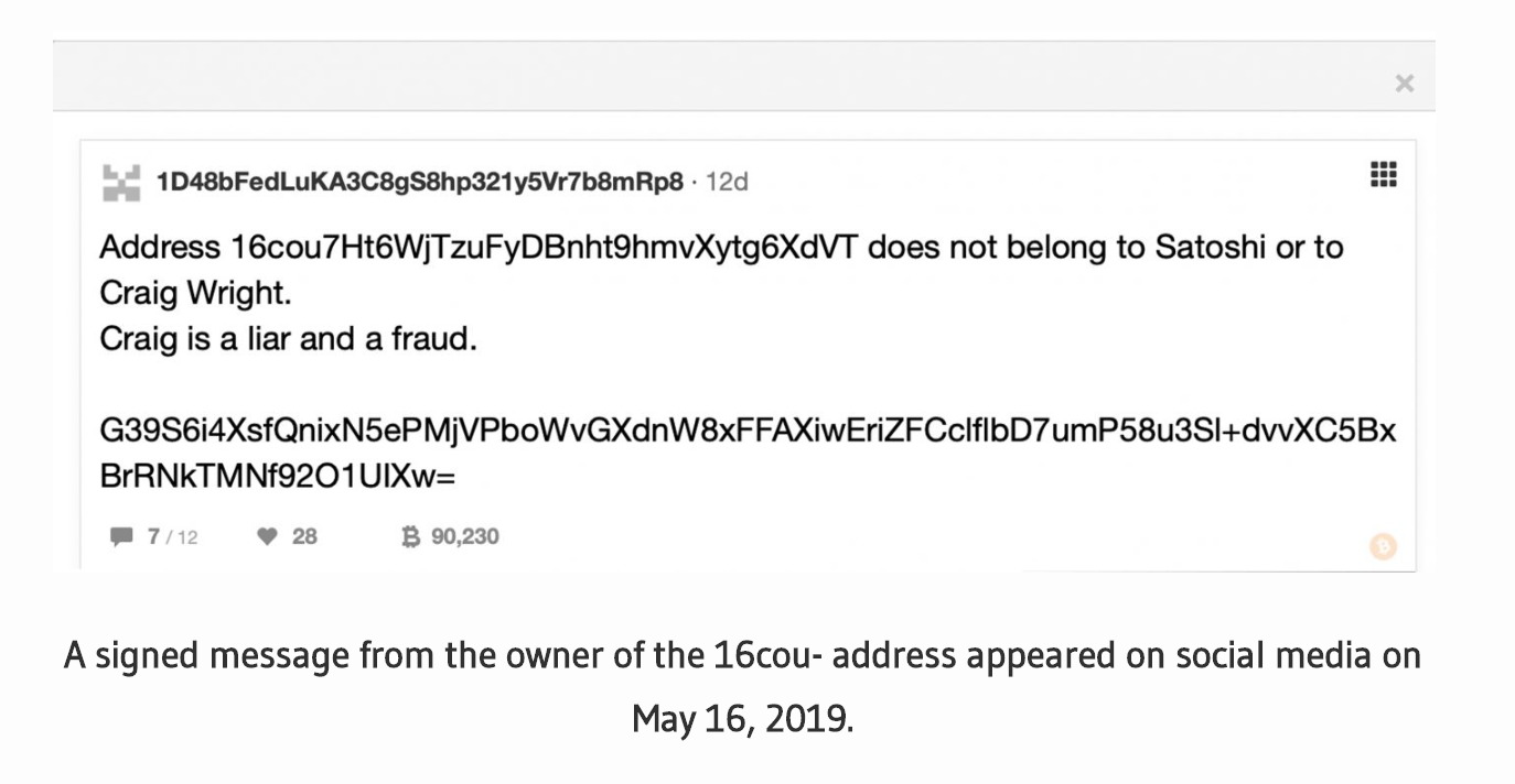 'Craig Is A Liar' – Early Adopter Proves Ownership of Bitcoin Address Claimed By Craig Wright (#GotBitcoin?)