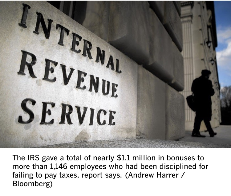 IRS Workers Who Failed To Pay Taxes Got Bonuses (#GotBitcoin?)