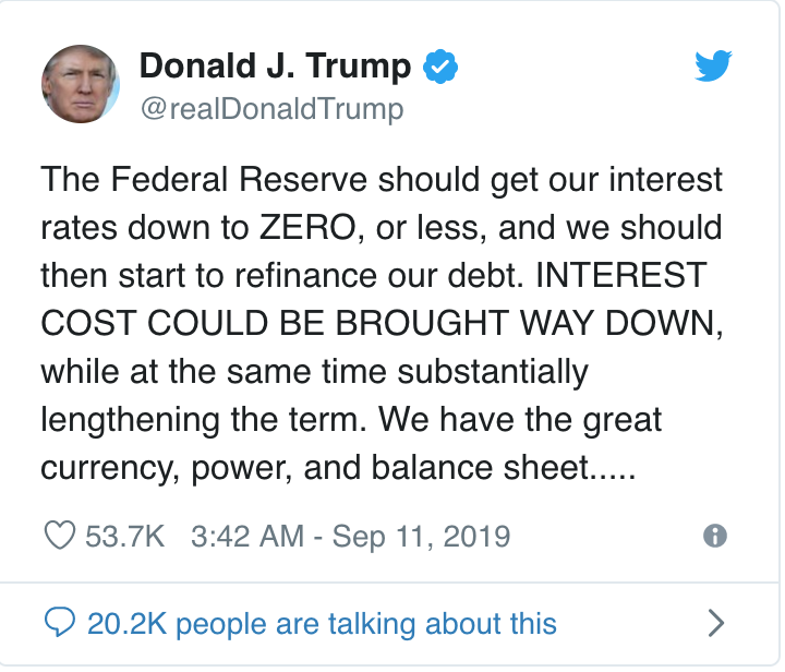 Trump Concedes Economic Defeat Trumponomics Will Result In Negative Interest Rates (#GotBitcoin?)