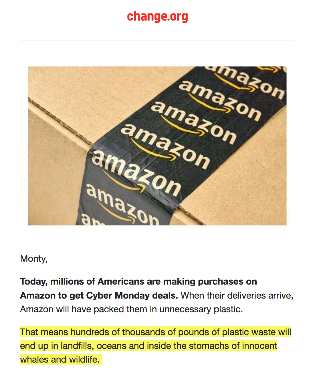 Amazon Is Contributing To Global Pollution!!! Sign Our Petition To End This Now!!