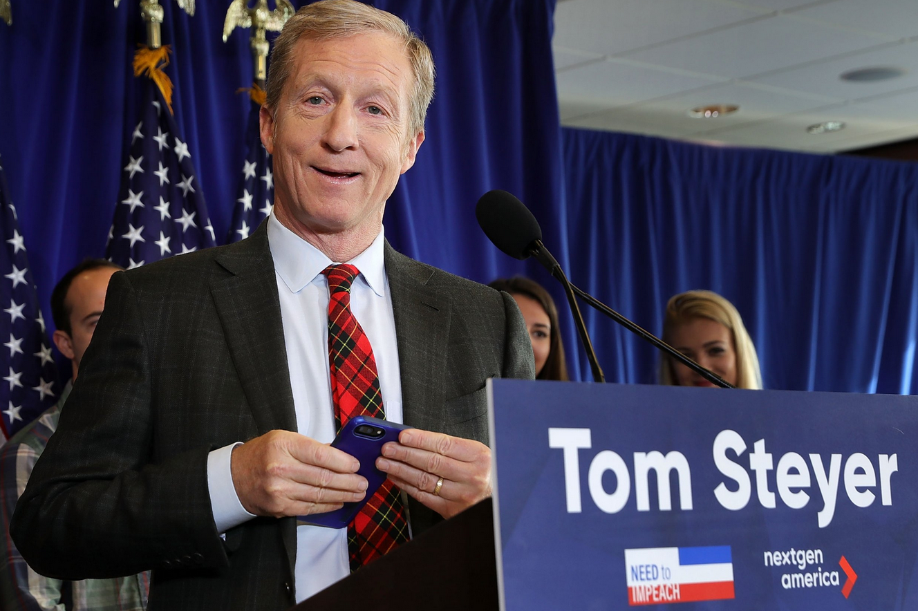 "Steyer Buys Trump Slogan URL ""Keep America Great"" On Cyber Monday"