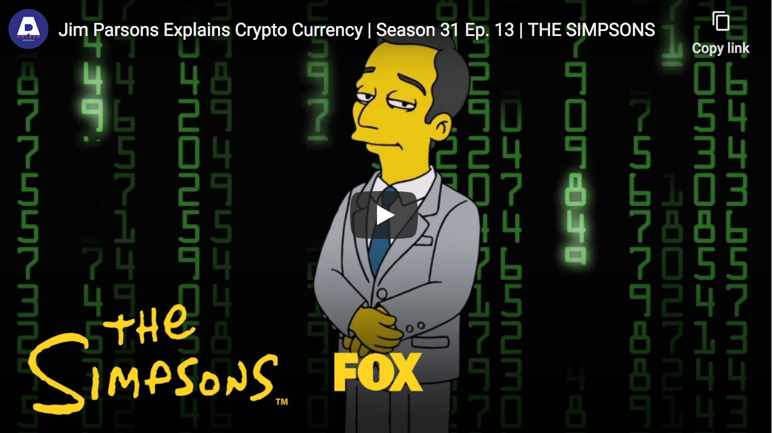 New 'Simpsons' Episode Features Jim Parsons Giving a Crypto Explainer for the Masses (#GotBitcoin?)