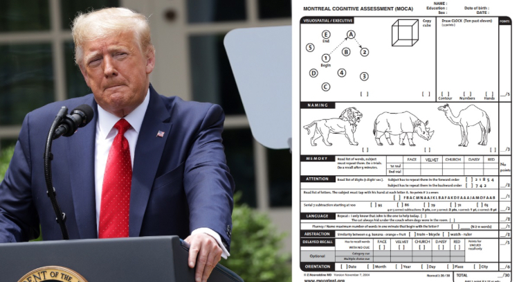Trump Takes Cognitive Test And Can Identify A Rhino vs A Camel