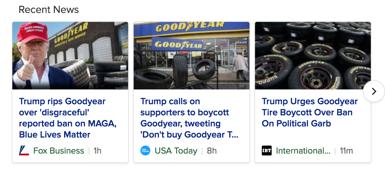 Trump Calls For Goodyear Boycott Amid Outrage Over 'MAGA' Ban