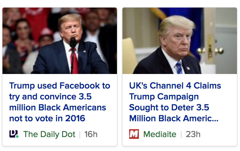Trump Used Facebook To Try And Convince 3.5 Million Black Americans Not To Vote In 2016