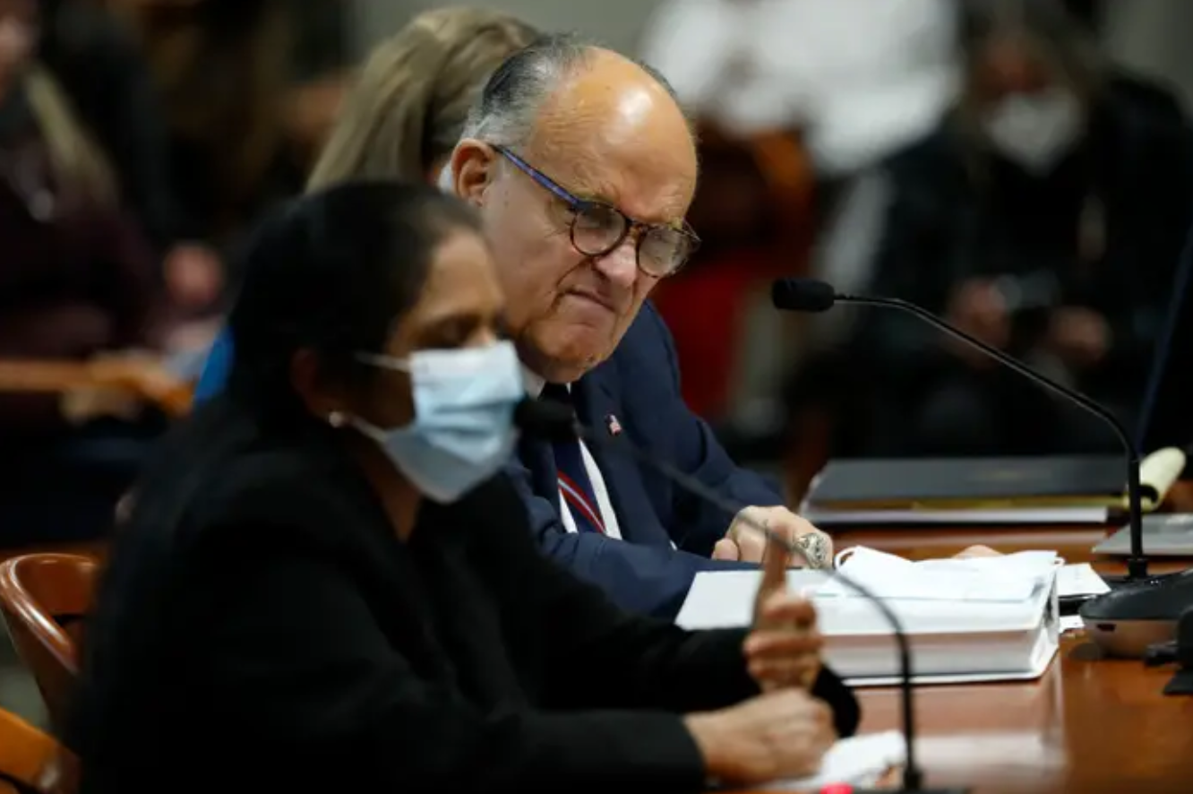 Did Rudy Giuliani Fart Twice At A Michigan Election Fraud Hearing?
