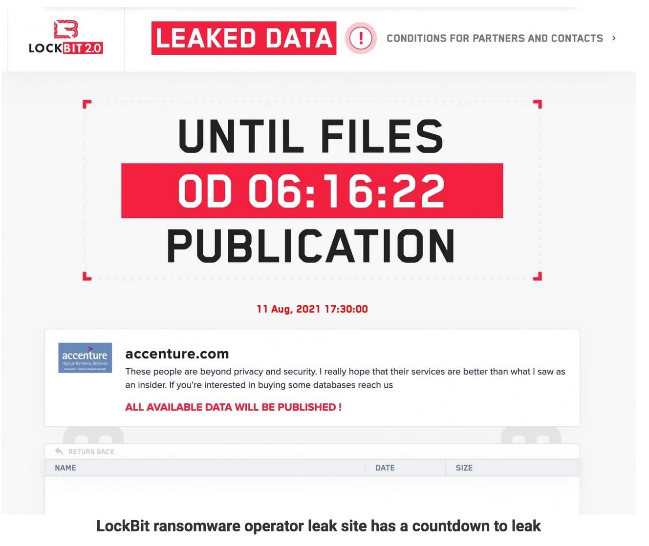 Accenture Confirms Hack After LockBit Ransomware Data Leak Threats
